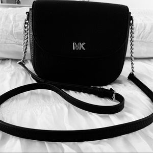 MICHEAL KORS MINI CROSSBODY LEATHER BAG BLACK